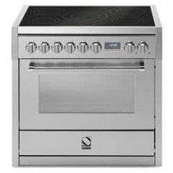 STEEL Enfasi 90cm SS Induction Cooktop Electric Oven Freestanding Cooker (E9F-5FI-SS)