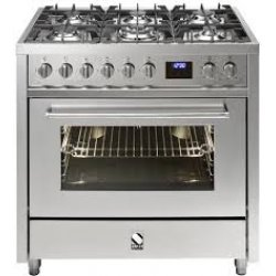 STEEL Enfasi 90cm SS Gas Electric Muiltifunction Oven Freestanding Cooker (E9F-6-SS)