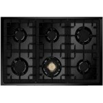 STEEL Oxford 90cm Black Gas Hob 91L Multifunction Electric Oven Freestanding Cooker (X9F-6-NF)