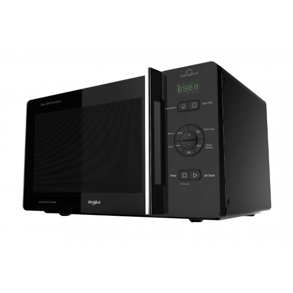 Whirlpool 52cm Crisp & Grill 25L Microwave with Accessories  (MWC25BK)