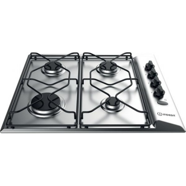 Indesit 60cm Stainless Steel Gas Cooktop with 4 Burners (PAA642IX-IEX)